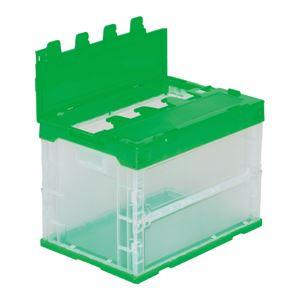 三甲(サンコー)折りたたみコンテナボックス/サンクレットオリコン【フタ付き】60B-D透明
