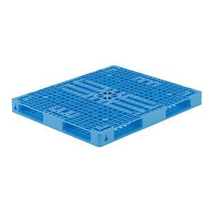 三甲(サンコー) プラスチックパレット/プラパレ 【ワンウェイパレット】 Rタイプ TS-097114R4 ライトブルー(青)