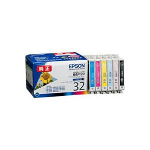 (業務用3セット) 【純正品】 EPSON エプソン インクカートリッジ/トナーカートリッジ 【IC6CL32 6色パック】