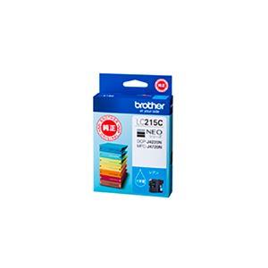 (業務用5セット) 【純正品】 BROTHER ブラザー インクカートリッジ 【LC215C シアン】 大容量の画像