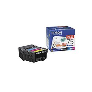 (業務用3セット) 【純正品】 EPSON エプソン インクカートリッジ 【IC4CL75 4色パック】 大容量インク