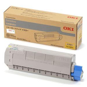 (業務用3セット) 【純正品】 OKI TC-C4DY1 トナーカートリッジ イエロー