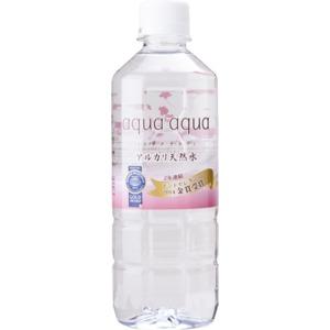 アルカリ天然水(aquaaqua)アクアアクア500ml・24本入り/ケース
