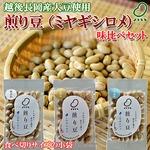 お試しに!煎り豆(ミヤギシロメ) 味比べセット3種類【9袋セット】(各種3袋)