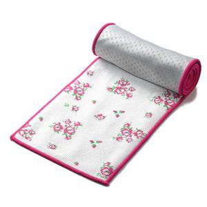 超冷感タオル cool'n〔クールン〕 単品 ひんやりタオル ひんやりスカーフ 花柄ピンク  - 拡大画像