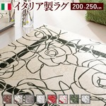 イタリア製ゴブラン織ラグ Camelia〔カメリア〕200×250cm ラグ ラグカーペット 長方形 1 :レッド