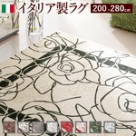 イタリア製ゴブラン織ラグ Camelia〔カメリア〕200×280cm ラグ ラグカーペット 長方形 4 :アイボリーグリーン