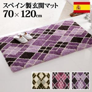 スペイン製ウィルトン織マット Argyle〔アーガイル〕70×120cm 玄関マット 室内/屋内用 ラグ ウィルトン織 ピンクの詳細を見る