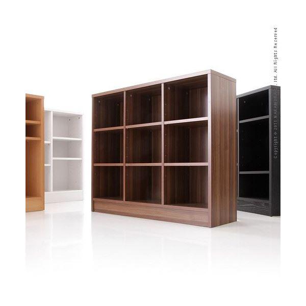 おしゃれな部屋作りに デザインチェスト Milano Shelf〔ミラノ シェルフ〕 3x3 ブラックウッド