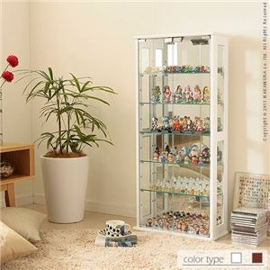 コレクションケース Colete〔コレテ〕 高さ100cm コレクションケース コレクションラック フィギュアケース ホワイト  - 拡大画像