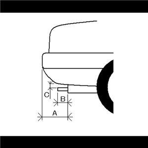 マフラーカッター [AX001B] トヨタ フィールダー 【カー用品 外装パーツ 吸気系パーツ ステンレス製 社外マフラー 角度可動式 虹色】