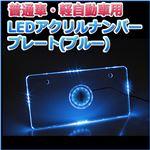 LEDアクリルナンバープレート 普通車・軽自動車用 単色 ブルー
