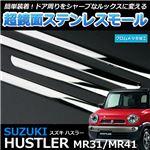 超鏡面ステンレスモール スズキ ハスラー MR31 MR41
