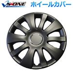 ホイールカバー 15インチ 4枚 トヨタ Will Vi (マットブラック) 【ホイールキャップ セット タイヤ ホイール アルミホイール】
