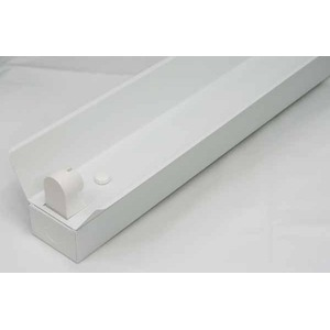 10台セット 直管LED蛍光灯用照明器具 笠付トラフ型 40W形1灯用 - 拡大画像