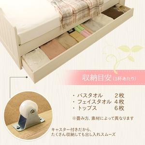 【引き出しのみ】日本製 カントリー調 姫系 ベッド『エトワール』専用引き出し2個セット ホワイト 白