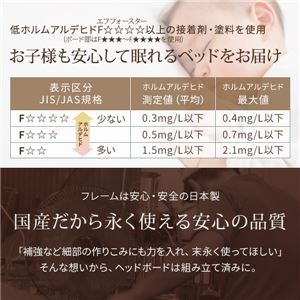 日本製 フロアベッド 照明付き 連結ベッド  セミダブル (ベッドフレームのみ)『NOIE』ノイエ ダークブラウン