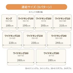 日本製 連結ベッド 照明付き フロアベッド  ワイドキングサイズ280cm(D+D) (ベッドフレームのみ)『NOIE』ノイエ ダークブラウン