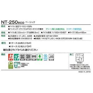 環境提案タイルカーペットサンゲツ NT-250eco ベーシック サイズ:50cm×50cm 12枚セット 色番:NT-2558【防炎】【日本製】