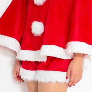 サンタ コスプレ レディース 【Peach×Peach  キュートサンタクロース ポンチョ&ショートパンツ】 サンタ 衣装