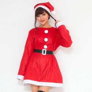 【クリスマスコスプレ】P×P レディースサンタ ワンピース&肩がけ