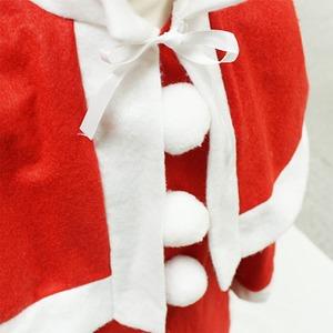 サンタ 衣装 キッズ 120 【 P×P ガールズサンタクロース サンタコスチューム子供用 ワンピース&肩がけ 5 - 7才向け 】