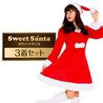サンタ コスプレ レディース まとめ買い 【Peach×Peach  スイートサンタクロース ワンピース (×3着セット) 】 クリスマスコスプレ サンタクロース衣装