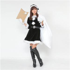 【クリスマスコスプレ 衣装 まとめ買い5着セット】Peach×Peach レディース ラブリーサンタクロース ブラック(黒) サンタコスプレ女性用 ワンピース
