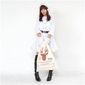 【クリスマスコスプレ 衣装 まとめ買い5着セット】Peach×Peach レディース ラブリーサンタクロース ホワイト(白) サンタコスプレ女性用 ワンピース