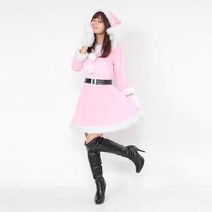 サンタ 大きいサイズ ピンク レディース <帽...の紹介画像2