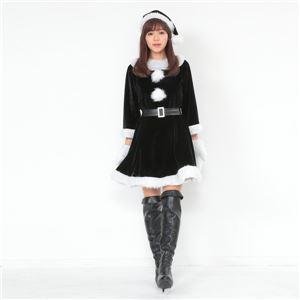 【クリスマスコスプレ 衣装】Peach×Peach レディース ラブリーサンタクロース ブラック(黒) サンタコスプレ女性用 ワンピース
