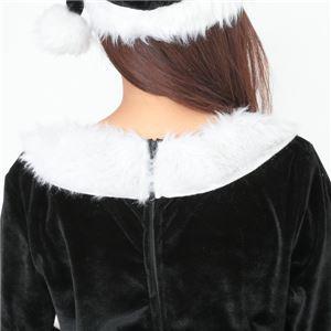 サンタ コスプレ 黒 ブラック レディース <帽子&ベルト&手袋セット> 【Peach×Peach  ラブリーサンタクロース ブラック(黒) ワンピース Mサイズ 】 クリスマスコスプレ サンタクロース衣装