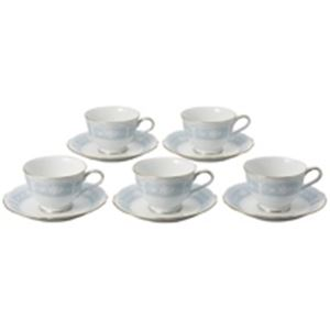 【訳あり・在庫処分】 ノリタケカンパニーリミテッド ティー・コーヒー碗皿 レースウッド 5客セット