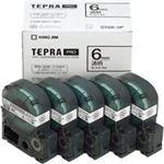 (業務用5セット) キングジム テプラ PROテープ/ラベルライター用テープ 【幅:6mm】 5個入り ST6K-5P 透明 【×5セット】