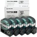 (業務用5セット) キングジム テプラ PROテープ/ラベルライター用テープ 【幅:12mm】 5個入り ST12K-5P 透明 【×5セット】
