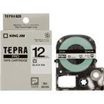 キングジム テプラPROテープ/ラベルライター用テープ 【幅:12mm】 5個入り SS12K 白に黒文字