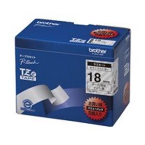brother ブラザー工業 文字テープ/ラベルプリンター用テープ 【幅:18mm】 5個入り TZe-141V 透明に黒文字