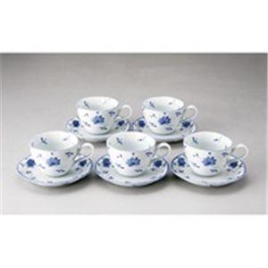 玉陶花唐草コーヒー碗皿5客セット2306-3