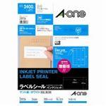 (業務用10セット) エーワン インクジェット用ラベル/宛名シール 【A4/24面 100枚】 28936