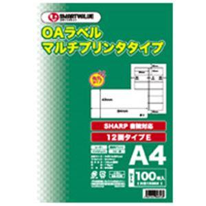 ジョインテックス OAマルチラベルE 12面100枚*5冊 A130J-5 h01