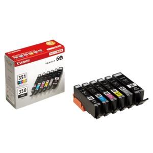 Canon キヤノン インクカートリッジ 純正 【BCI-351+350/6MP】 6色パック(ブラック×2・シアン・マゼンタ・イエロー・グレー)