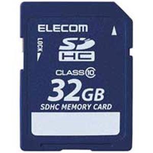 エレコム(ELECOM) SDHCメモリカード 32GB MF-FSDH32GC10R