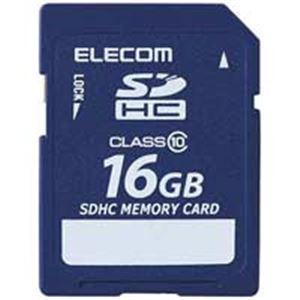 エレコム(ELECOM) SDHCメモリカード 16GB MF-FSDH16GC10R