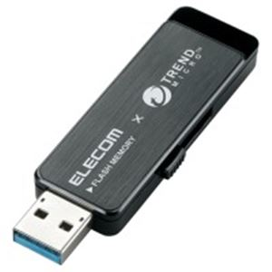 エレコム(ELECOM) セキュリティUSBメモリ黒8GB MF-TRU308GBK h01
