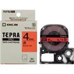 (業務用5セット) キングジム テプラPROテープ/ラベルライター用テープ 【幅:4mm】 SC4R 赤に黒文字