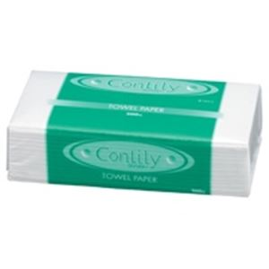 (業務用80セット)紺屋製紙 ペーパータオル ソフトコンリリー 1個 【×80セット】