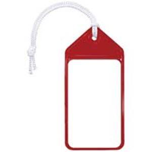 (業務用10セット)共栄プラスチック ネームタッグ旅行名札 C-80-5-R レッド 5枚