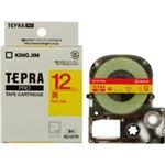 (業務用5セット) キングジム テプラPROテープ/ラベルライター用テープ 【幅:12mm】 SC12YR 黄に赤文字