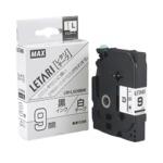 (業務用30セット) マックス 文字テープ LM-L509BW 白に黒文字 9mm