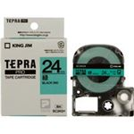 (業務用30セット) キングジム テプラPROテープ/ラベルライター用テープ 【幅:24mm】 SC24G 緑に黒文字